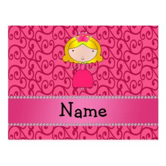 Remolinos conocidos personalizados del rosa de la tarjeta postal