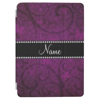 Remolinos conocidos y mariposas de la púrpura del  cubierta de iPad air