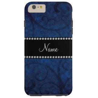 Remolinos conocidos y mariposas de los azules funda de iPhone 6 plus tough