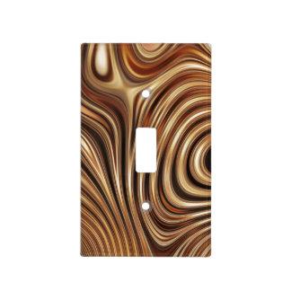 Remolinos de cobre del café tapas para interruptores