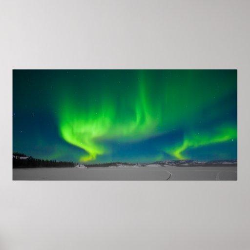 Remolinos de la aurora boreal poster