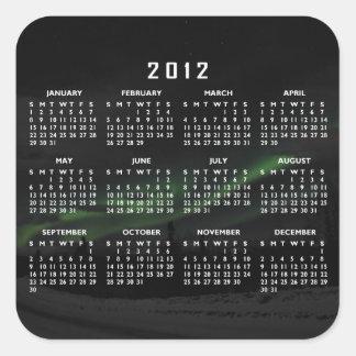 Remolinos de la luz; Calendario 2012 Calcomanías Cuadradass
