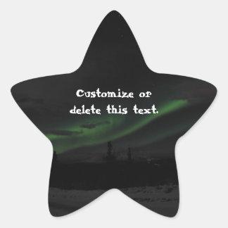 Remolinos de la luz; Personalizable Calcomanías Forma De Estrella Personalizadas