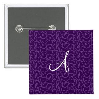 Remolinos de la púrpura del monograma pins