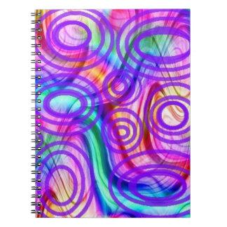 Remolinos de los colores libros de apuntes con espiral