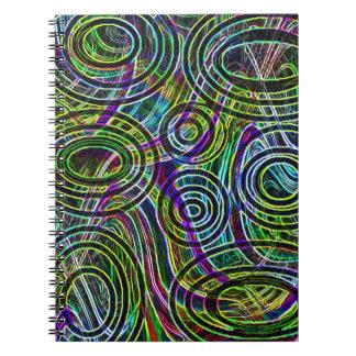 Remolinos de los colores libretas espirales