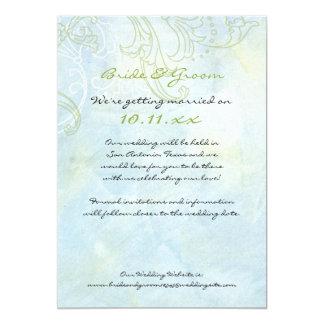 Remolinos de n de los girasoles ', casando la invitación 12,7 x 17,8 cm