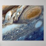 Remolinos de NASAs Júpiter Poster