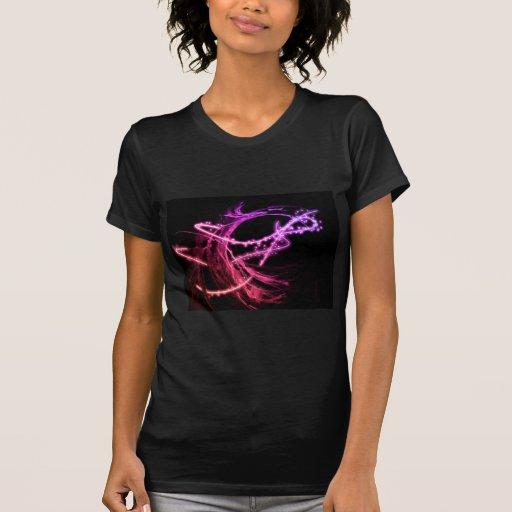 Remolinos de neón púrpuras y rosados eléctricos co camisetas