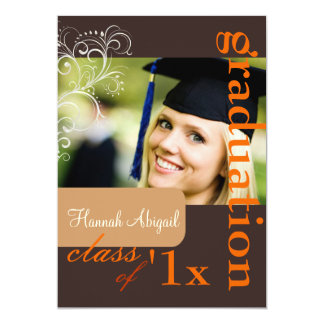 """Remolinos de PixDezines, 2012 graduación, colores Invitación 5"""" X 7"""""""