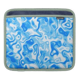 Remolinos del agua azul/impresión del estilo del e mangas de iPad