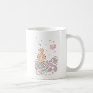 Remolinos del amor de los guijarros taza de café