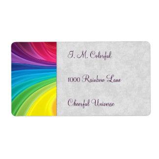 Remolinos del arco iris etiquetas de envío