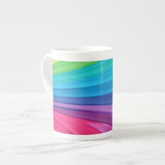 Remolinos del arco iris taza de porcelana