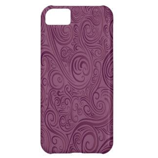 Remolinos del color de vino funda para iPhone 5C