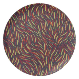 remolinos del color primario platos de comidas