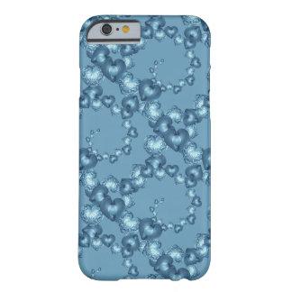 Remolinos del corazón, caso de Lt Azul-iPhone 6/6s Funda Para iPhone 6 Barely There