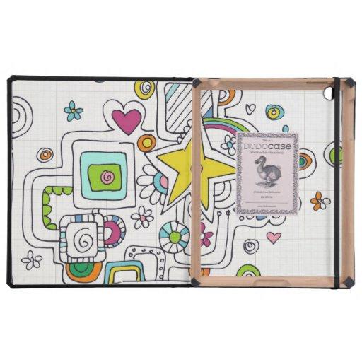 remolinos del doodle iPad carcasas