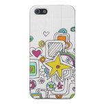 remolinos del doodle iPhone 5 carcasas