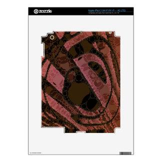 Remolinos del extracto de Brown oscuro del Pegatinas Skins Para iPad 3