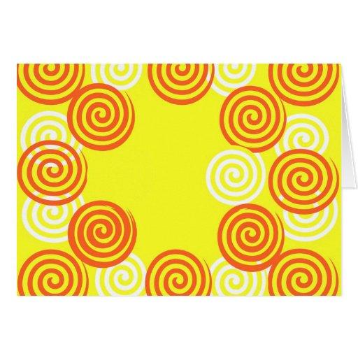 Remolinos del limón y del naranja tarjeta pequeña