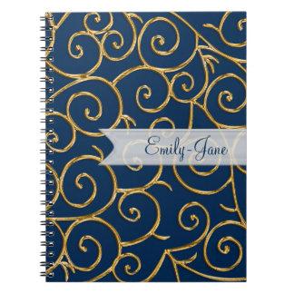 remolinos del oro spiral notebook