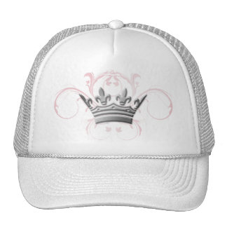 remolinos del rosa de la tiara 311-Silver Gorra