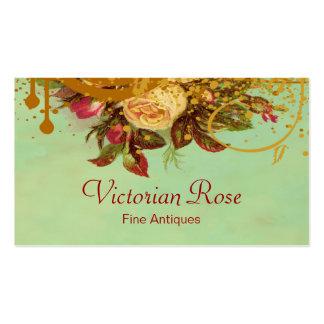 Remolinos del rosa del Victorian y tarjeta de visi Plantilla De Tarjeta De Visita