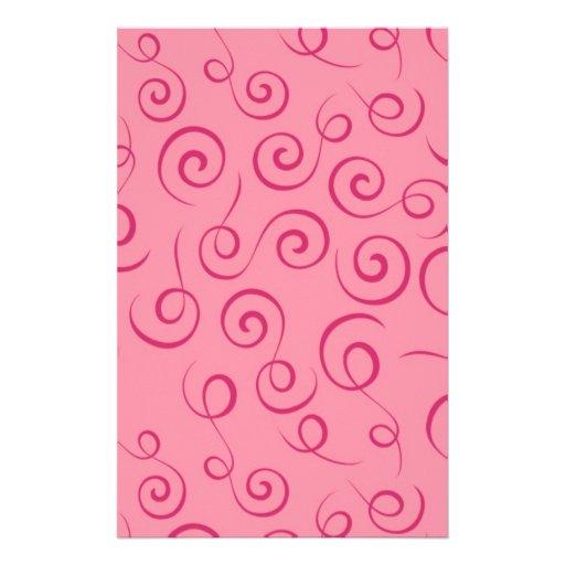 Remolinos del rosa papeleria personalizada
