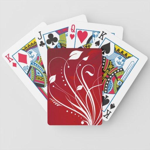 Remolinos del sistema rojo y blanco de la naturale barajas de cartas