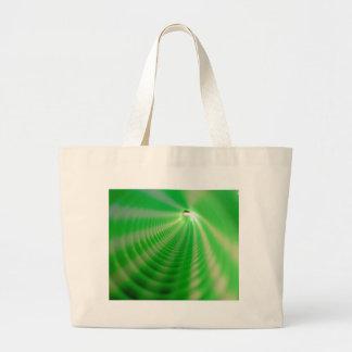 Remolinos del verde bolsa tela grande