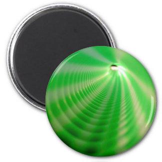 Remolinos del verde imán redondo 5 cm
