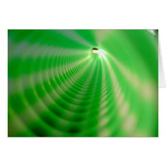 Remolinos del verde tarjeta de felicitación