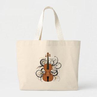 Remolinos del violín bolsa de mano