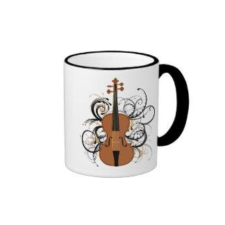 Remolinos del violín tazas