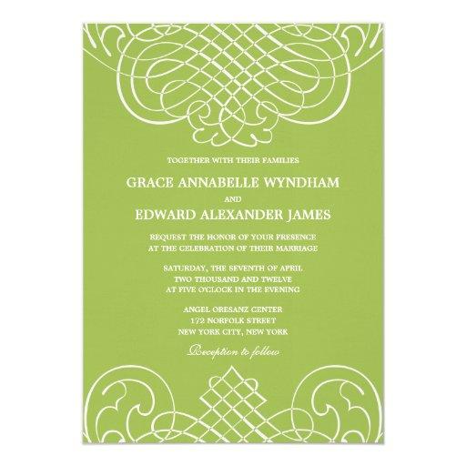 Remolinos destacados que casan la invitación