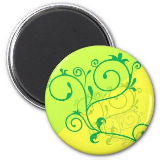 remolinos digitales de la cal del limón de Free-Fl Imán Redondo 5 Cm