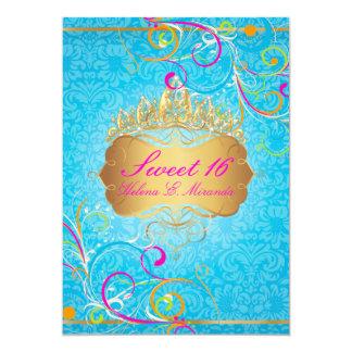Remolinos dulces 16/Rainbow de PixDezines Invitación 12,7 X 17,8 Cm