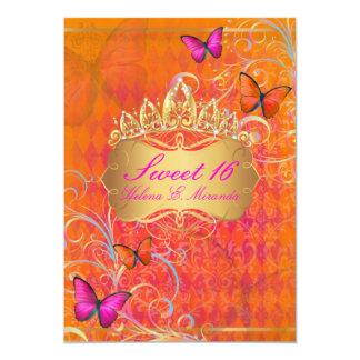 Remolinos dulces 16/Rainbow de PixDezines Papillon Invitación 12,7 X 17,8 Cm