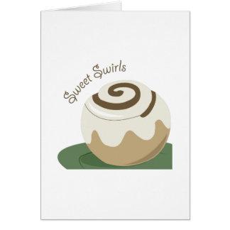 Remolinos dulces tarjeta de felicitación