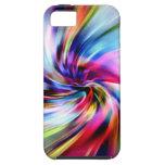 Remolinos electrónicos del arco iris multicolor de iPhone 5 funda