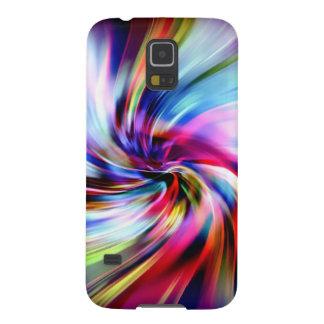 Remolinos electrónicos del arco iris multicolor carcasa para galaxy s5