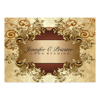 Remolinos elegantes 2 del vintage de los tonos del plantilla de tarjeta de negocio