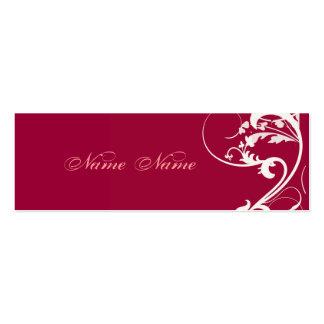 Remolinos elegantes caprichosos vibrantes de la tarjetas de visita mini