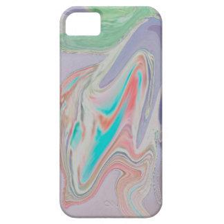 Remolinos en colores pastel del tinte de la funda para iPhone SE/5/5s