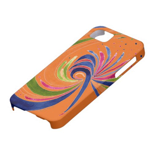 Remolinos en el naranja - extracto en acuarela iPhone 5 Case-Mate coberturas