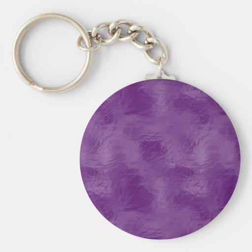 Remolinos en el vidrio esmerilado: Púrpura majestu Llaveros Personalizados