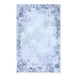 Remolinos florales azules papeleria de diseño