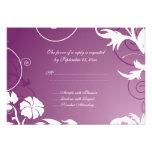 Remolinos florales blancos púrpuras del ciruelo qu comunicado personal
