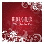 Remolinos florales de la ducha nupcial elegante invitación personalizada